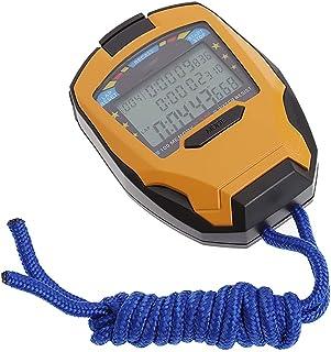 CXQWAN Digital handhållen sportstoppklocka, professionell stoppur 3 rader 100 varv 1/1 1 000 sekunder digital sporträknare...