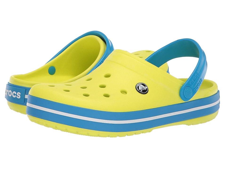 Crocs Crocband Clog (Tennis Ball Green/Ocean) Clog Shoes