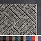 Gorilla Grip Original Durable Rubber Door Mat, 29x17, Heavy Duty Doormat, Indoor Outdoor, Waterproof, Easy Clean, Low-Profile Mats for Entry, Garage, Patio, High Traffic Areas, Gray Diamond