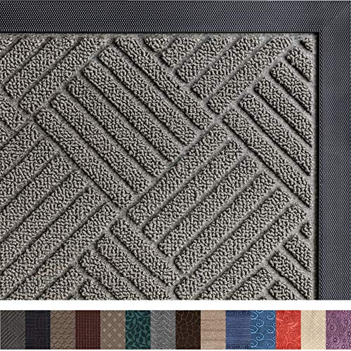 Gorilla Grip Original Durable Rubber Door Mat, 23x35, Heavy Duty Doormat for Indoor Outdoor,...