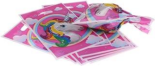 MagiDeal 10pcs Bolsas de Regalo Unicornio Mágico Cumpleaños Niños Favores Bolsas Compra Reutilizable