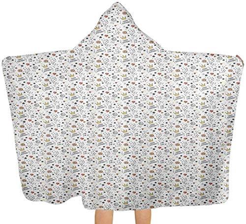 Toalla de baño grande con forma de estrellas y puntos, toallas absorbentes con capucha para bebé, niño pequeño, 100 x 130 cm, 150 x 200 cm