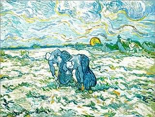 Posterlounge Cuadro de Madera 130 x 100 cm: Grave End Bäuerinenn de Vincent Van Gogh/akg-Images