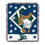 MLB Tampa Bay Rays Baby Woven Jacquard Throw Blanket, 36' x 46'