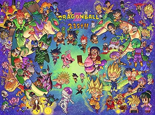 KJADF Póster Dragon Ball Anime Puzzle de 1000 Piezas para Adultos, DIY Rompecabezas De Madera Rompecabezas Juguete Formación de Equipos 75 x 50 cm