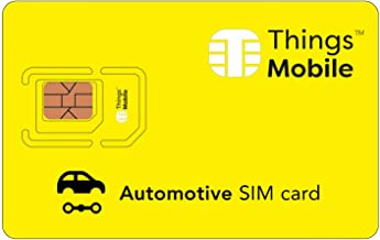 SIM Card for Vehicle GPS Tracker - Things Mobile - with Global Coverage and Multi-Operator GSM/2G/3G/4G LTE Network, No Fixed Costs, No Expiration Date and Competitive Rates, No Credit Included