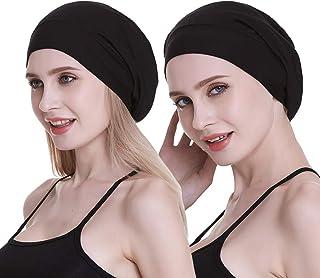 Satin Lined Sleep Slouchy Cap Curly Girl Slap Headwear Gifts For Frizzy Hair Women