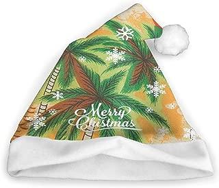 Christmas Caps Hawaiian Palm Trees Unisex Novelty Christmas Santa Hats Party Cap Xmas Hat