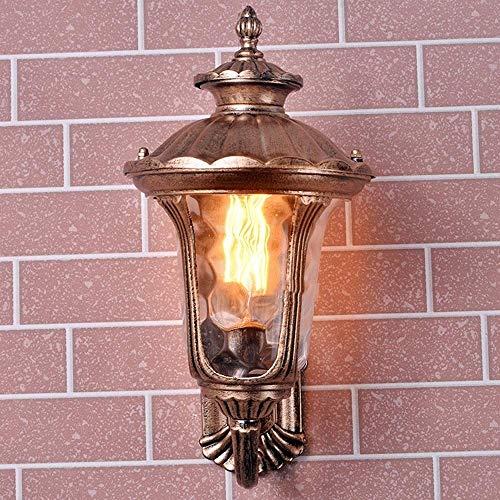 Wandlamp voor buiten, waterdicht, klassieke buitenwandlamp van brons – Europese wandlamp van glas van aluminium – Villa hof Portal Ca