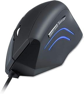 ペリックス PERIMICE-508 有線垂直型 エルゴノミクスマウス 1000/1600 dpi サイズM-L【カスタマイズ可能ボタン5個】右手用 - 長時間の使用でも疲れにくい【正規保証品】