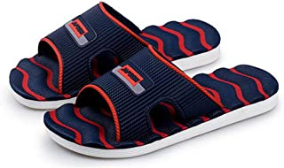Men Slippers New Lightweight Casual Plaid Stripes Sandals Summer Fashion Classic Flip Flops Soft Beach Shoes