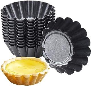 Amasawa 10 pièces en Acier Inoxydable Oeuf Tarte Moule Oeuf Tarte en Forme Outil gâteau de Petit gâteau Biscuit Moule poud...