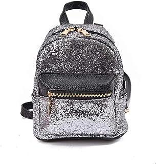 Asdfnfa Backpack, Geometric Lingge Women Rucksack Backpack Luminous Flash Travel Shoulder Bag School Backpack,Holograph for Women Fashion Womens Purse Backpack (Color : Silver)
