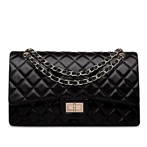 Quilted Leather Handbag: Amazon.com