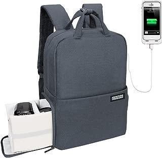 CADeN Camera Backpack for DSLR/SLR Waterproof w/USB Charging Port, Tripod Holder, Rain Cover, Anti Theft 14