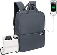 CADeN Travel DSLR SLR Camera Backpack Waterproof Anti-Theft Camera Bag with USB Charging Port Laptop Backpack Compatible for Canon Nikon Sony Olympus SLR Lens Tripod 15.6'' Laptop (L,Dark Grey)