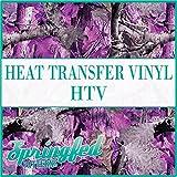 PURPLE & PINK TREE CAMO PATTERN HTV Muddy Hunting Camo 12'x14' Heat Transfer Vinyl Camo for Shirts