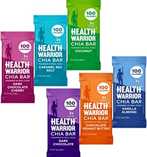 Health Warrior Chia Bars Variety, 24-Count