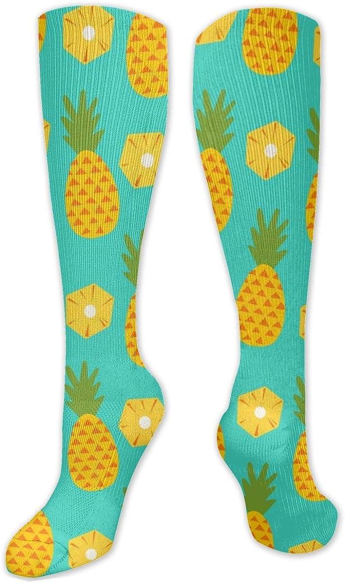 Pineapple Knee High Socks Leg Warmer Dresses Long Boot Stockings For Womens Cosplay Daily Wear
