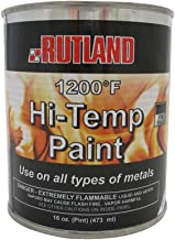 Rutland Products Rutland 1200-Degree F Brush-On Flat Stove Paint, 16 Fluid Ounce, Black