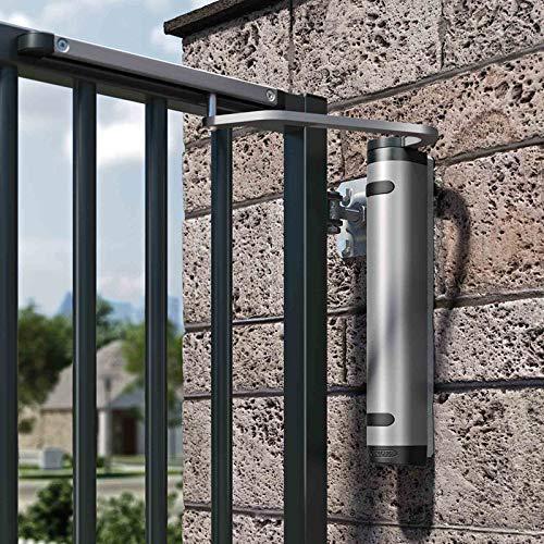 LOCINOX einstellbarer Türschließer Verticlose 2 Wall zur Wandbefestigung hydraulisch Öffnungswinkel 90° / 180° Silber