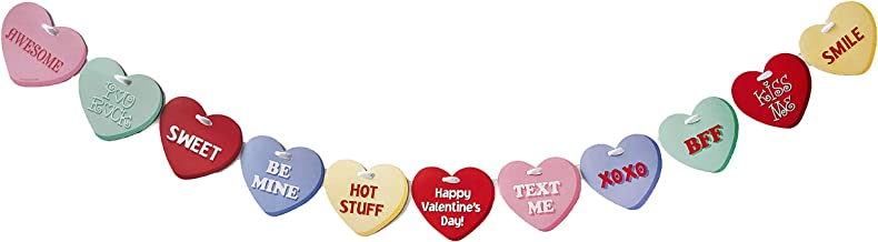Valentine's Day Candy Conversation Hearts Party Decor Garland Banner - Over 5 Feet Long