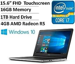 Dell Inspiron 15 5000 Series I5559 15.6 Inch Full HD Display Touchscreen Laptop (Intel Core i7-6500U 2.5GHz, 16GB RAM, 1TB HDD, 4GB AMD Radeon R5 M335 Graphics, Windows 10) (Renewed)