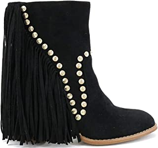 Best black and gold studded boots Reviews