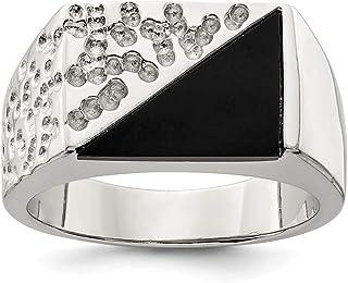 خاتم من الفضة الإسترلينية الصلبة للرجال من إف بي جويلز