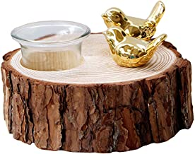 Decorative Handmade Rustic Wooden Tealight Candle Holder