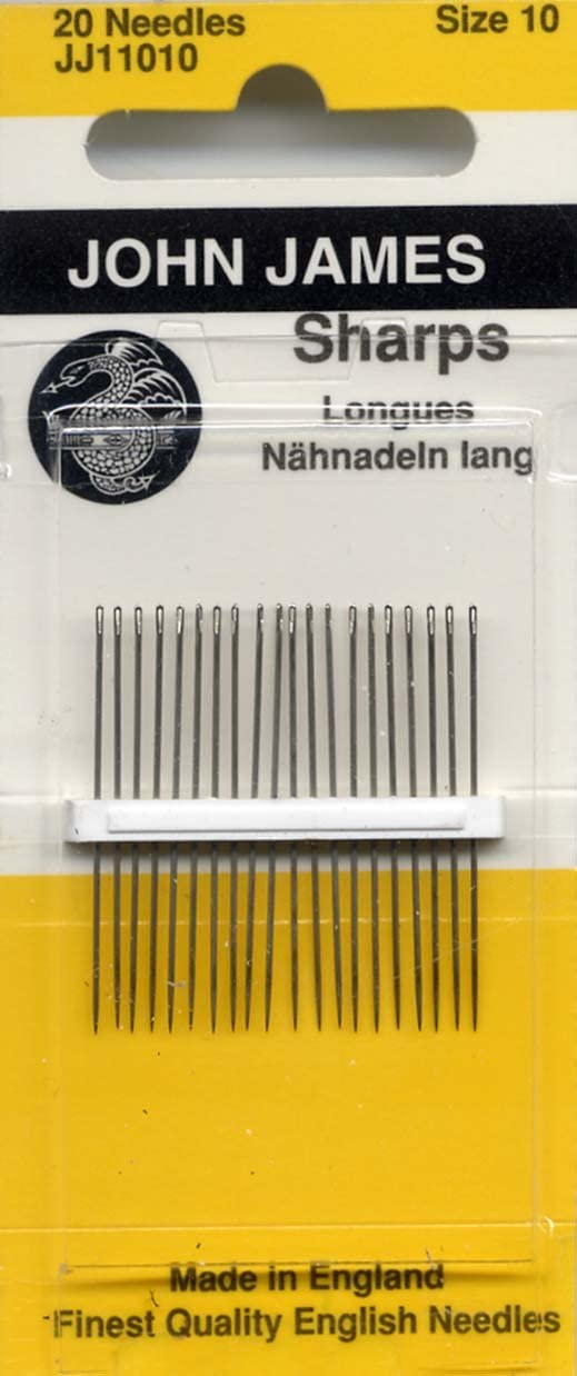 JJ11004 Available in 16 Needle Pkgs Size 4 Sharps and in 10 Pkg Factory Packs by Request John James Needles