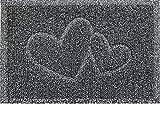 Majo Lifestyle Fussmatten Innenbereich und Außenbereich - Robuste Gummi Haustür Fußmatten - Badezimmer Teppich - Fussabtreter Geschenk - Willkommen Fußmatte außen (Grau)