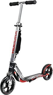 HUDORA 205 Self-Powered Kick Scooter for Adults Teens with Two PU Wheels Folding Mechanism Adjustable Height Rear Brake Non-Electric Glider Scooter