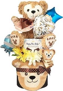 おむつケーキ [ 男の子/ダッフィー : ディズニー / 2段 ] パンパース S22枚 (出産祝い に Sサイズ)2002 ダイパーケーキ 赤ちゃん ベビーシャワー ギフト 誕生日プレゼント