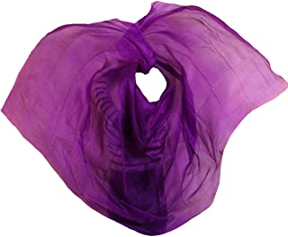 Nimiman Women 100% Silk Solid Color Dance Veils and Scarves