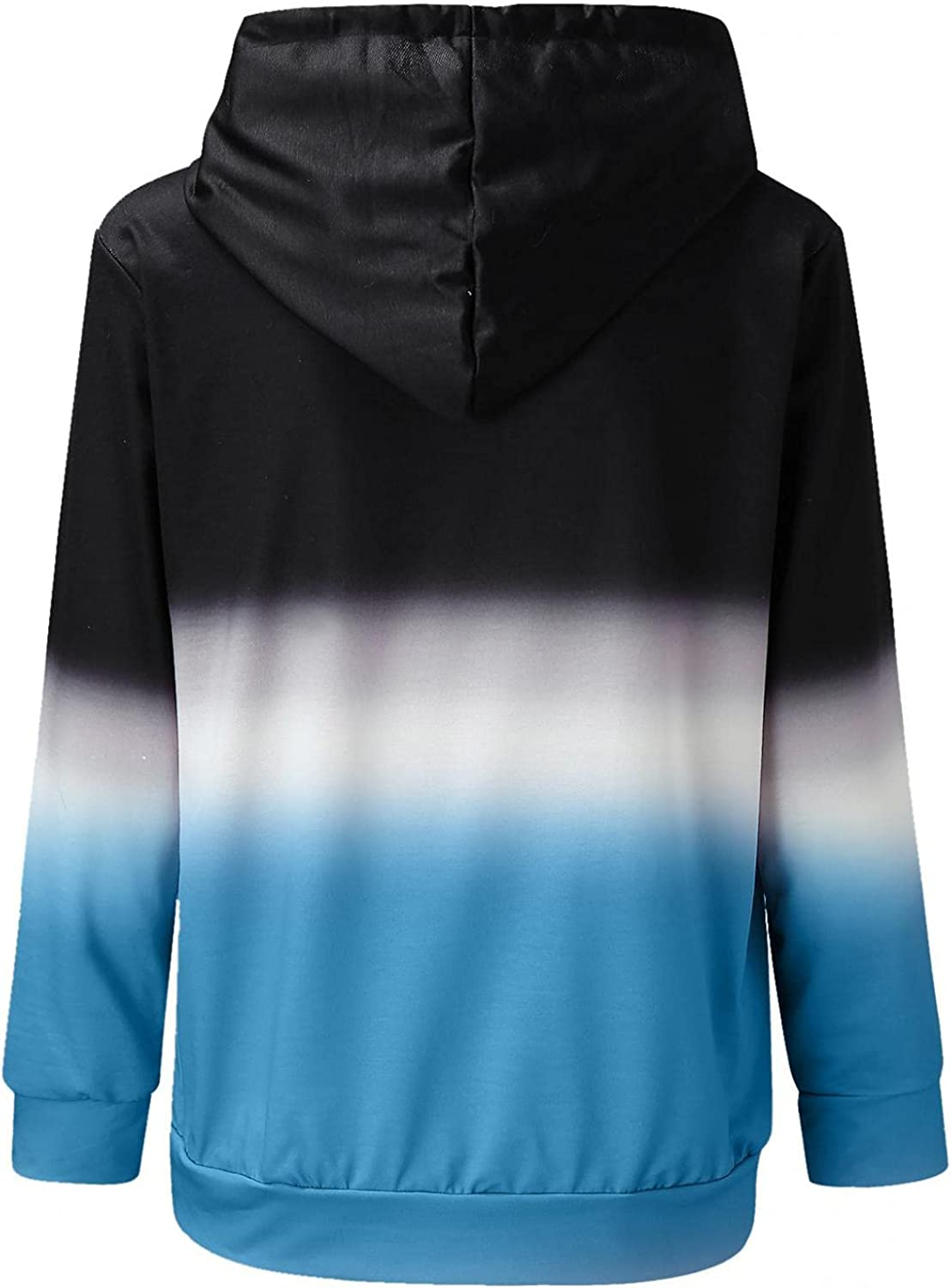 NEEKEY Hoodie for Womens Casual Tunic Tops Long Sleeve Tie Dye Pockets Sweatshirts Shirts Pullover Blouse with Drawstring