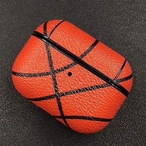 Bolsa de auricular único del baloncesto de béisbol del auricular del diseño de casos for Airpods Pro prueba de golpes funda protectora for Apple Airpods 3 Carga Cubierta ( Color : Basketball Pattern )