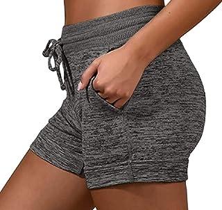 WSPLYSPJY Women Shorts Dry-Fit Casual Stretch Workout Gym Bermuda Shorts