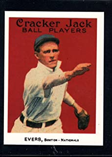 1915 Cracker Jack MLB Baseball Card (Reprint 1993) #18 Johnny Evers Boston Braves 2.25 by 3 Inch Trading Card