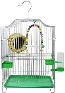 large bird cage لوازم الحيوانات الأليفة الطراز المنزلية قفص الطيور الاقتصادية تأتي مع 2 أوعية تغذية و 1 نافورة الشرب birds...