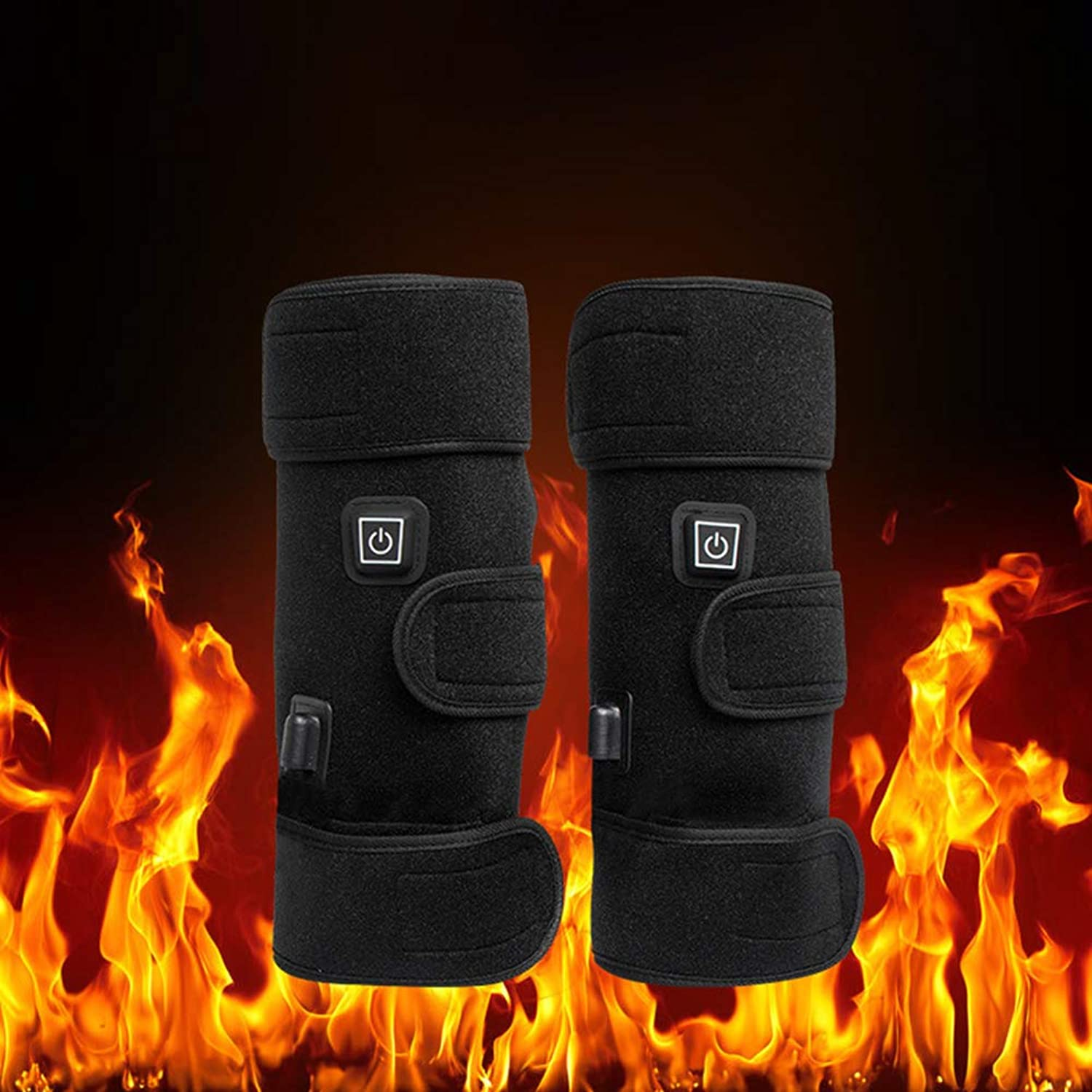 ZKxl8ca 1 Pair Electric Heating Knee Pads Winter Infrared Arthritis Rheumatism Therapy