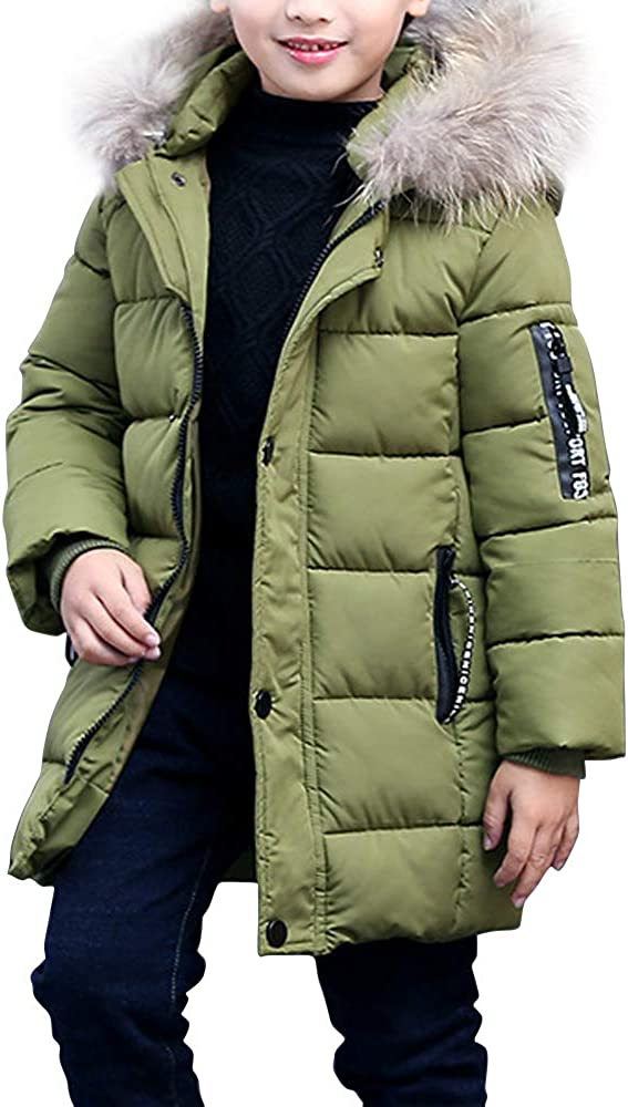 Phorecys Boy's Winter 送料無料 Hooded Cotton Outwear 超歓迎された Parka Jacket Coat