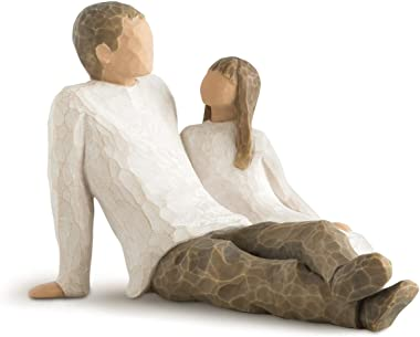 Willow Tree 26031 Father and Daughter Figurine, Natural, 6.8 x 6.2