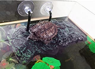 タートル テラス BigTron 爬虫類 両生類 乾燥プラットフォーム カメ 浮き島 生息地 登り石 水族館 フロート 水槽装飾(S)