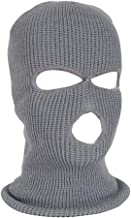 3 pcs 3-Hole Ski Face Mask Balaclava, Knitted Face Cover Winter, Full Face Mask for Winter Outdoor Sports