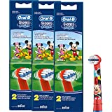 Braun Oral-B stages Potencia cabezales de Mickey Mouse con mariposas ratón Kids 6er Pack cabezales...