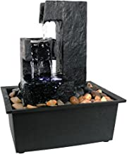 Sunnydaze Square Tiered Small Tabletop Water Fountain, 10.5 Inch