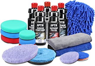 SPTA Ultimate Car Care Kit Cleaning Kit Premium Detailing Kit Polishing Pad Buffing Kit with Multi-Purpose Cleaner Compound Polishing Sets 16.9oz Care Products - Cleaning Supplies for Car Buffer Polis