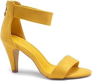 RROSE Women's Open Toe High Heels Dress Wedding Party Elegant Heeled Sandals