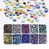 BLINGINBOX SS10 5000 piezas de colores mezclados AB con caja de 10 colores DMC Hot Fix diamantes de imitación de cristal Strss Hotfix Rhinestone para ropa
